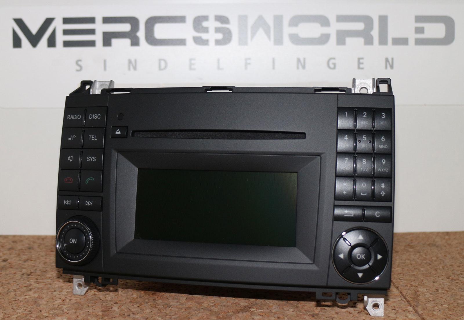 mercedes autoradio audio 20 ntg2 5 a klasse w169 w245. Black Bedroom Furniture Sets. Home Design Ideas