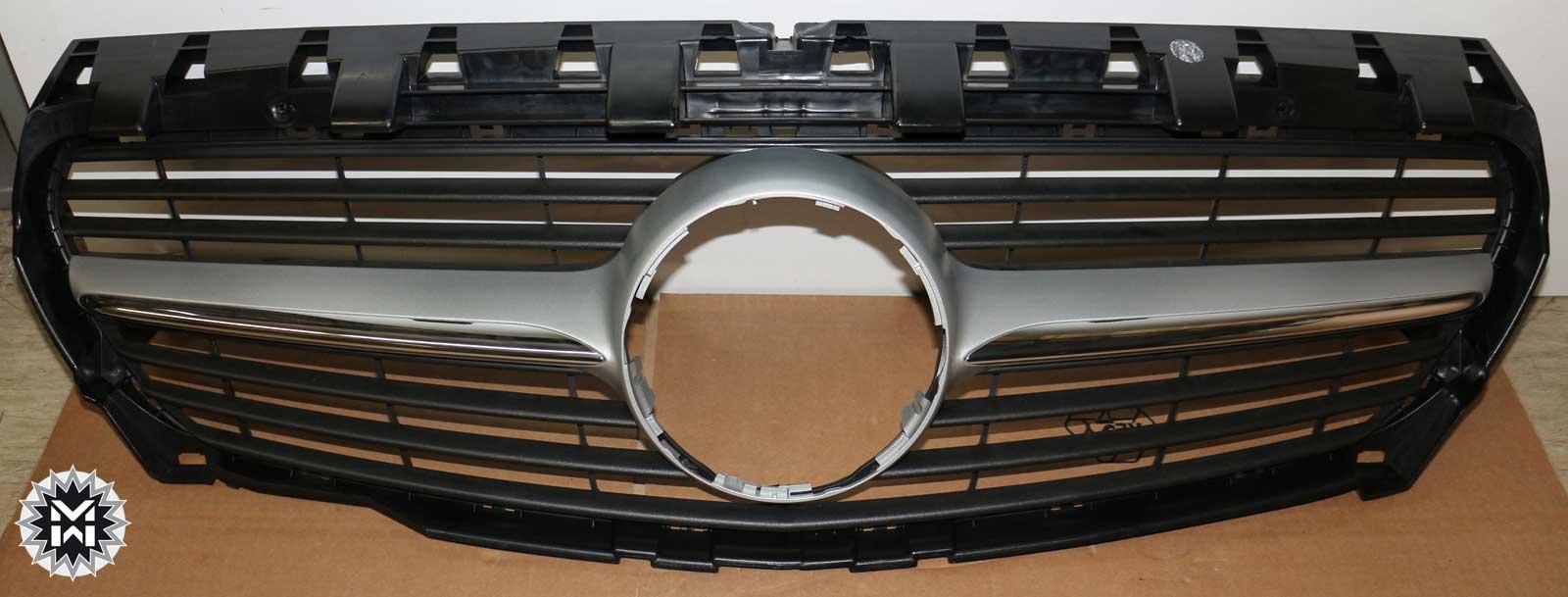 mercedes cla klasse amg c117 k hlergrill grill a1178880460 98 k hlermaske silber ebay. Black Bedroom Furniture Sets. Home Design Ideas
