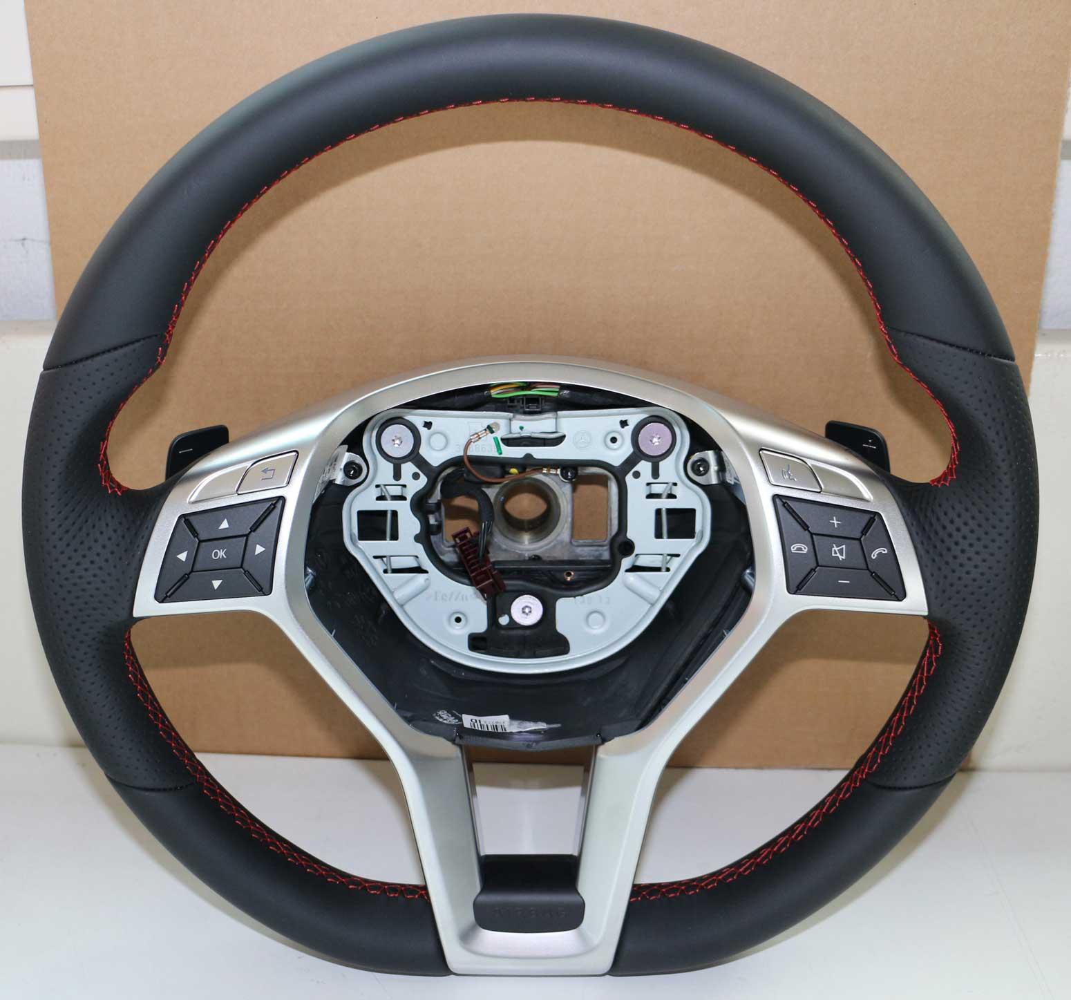 mercedes leder lenkrad amg styling a1724601903 w176 w156. Black Bedroom Furniture Sets. Home Design Ideas